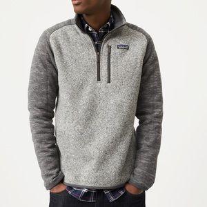 Gray Quarter Zip Patagonia Better Sweater Medium